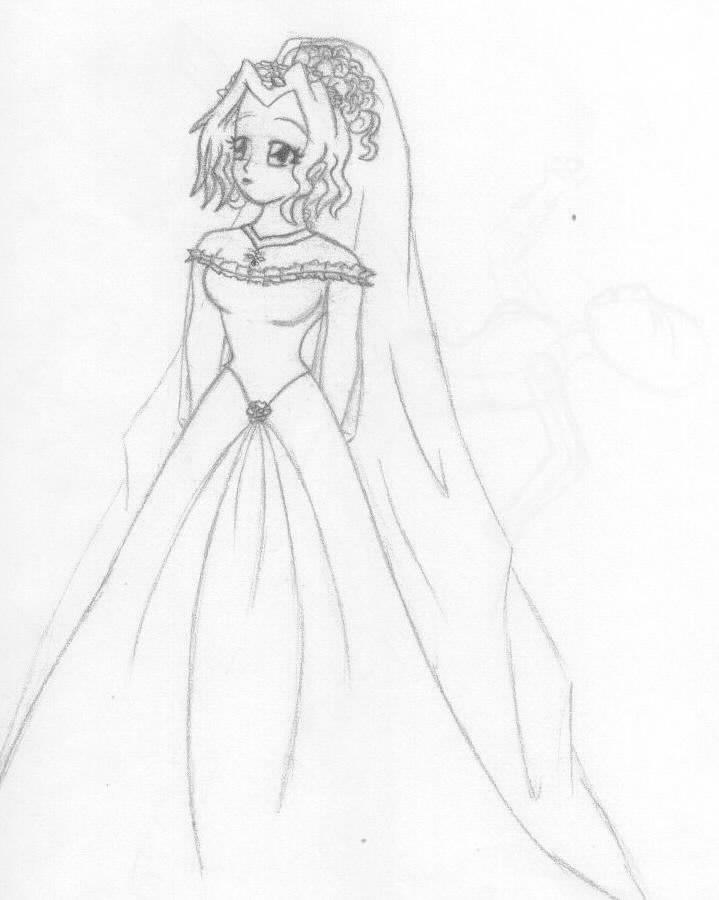 Wedding Gown Thiswas my design for Felice s wedding gown O o It